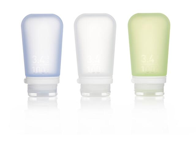 humangear GoToob 100ml 3er Pack transparent/grün/blau